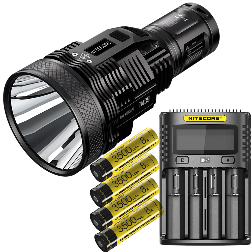 2020 NITECORE TM39 Lite OLED Screen Searchlight LUMINUS SBT-90 GEN2 5200LM LED Flashlight Rechargeable Torch By 18650 Battery