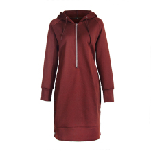купить Sweatshirt Women Hooded Long-sleeved Long-slit Hoodie Special Crop Top Hoodie Sweatshirt Plus Size 3XL Women Dress Hoodies New по цене 1100.07 рублей