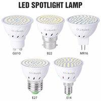 Lámpara Led GU10 MR16, Bombilla de mazorca de maíz, E27, 220V, Bombilla Led, E14, foco para el hogar, B22, SMD2835, GU5.3, 4W, 6W, 8W