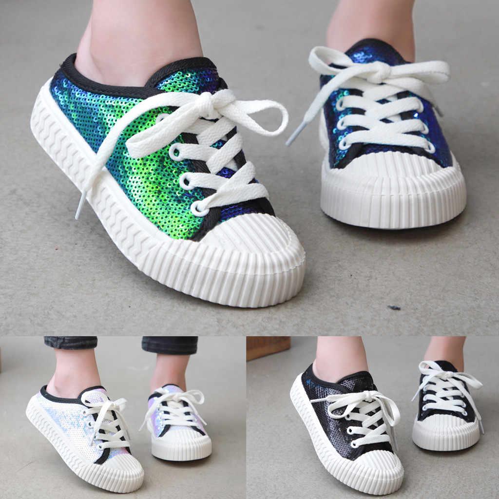 2019 caliente moda Niño Infante niños bebés niñas niños perla moda Bling zapatos zapatillas niños y madre Envío Directo