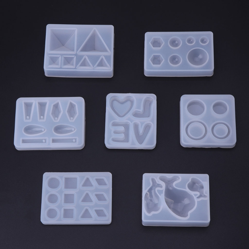 2019 New Silicone Mold For Resin DIY Jewelry Making Geometric Crafts Mirror Decorative Epoxy Resin Mold Jewelry Tools