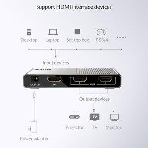 Image 3 - Unnlink Divisor HDMI 1X2 1X4 HDMI2.0 UHD 4K @ 60HZ 18Gbps 4:4:4 HDR HDCP 2,2 3D para amplificador de proyector LED Dispositivo de tv inteligente ps4