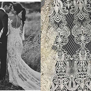 Tessuto africano del merletto 2020 del merletto di alta qualità, tessuto del merletto del sequin francese del merletto del ricamo Francese tessuto per il vestito da partito