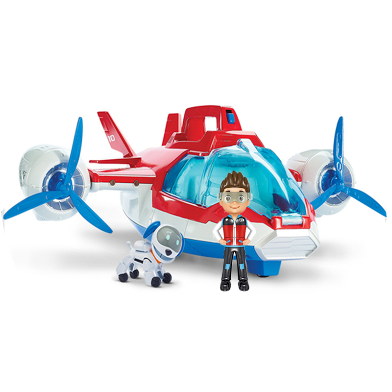 Paw Patrol Toy Set Paw Patrol Birthday Air Patrol Rescue Plane Ryder Captain Robot Dog Sound Effect Character Toy Children Gift