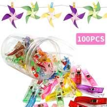 100 шт пластиковые прищепки для одежды 25 + 75 маленьких консервных