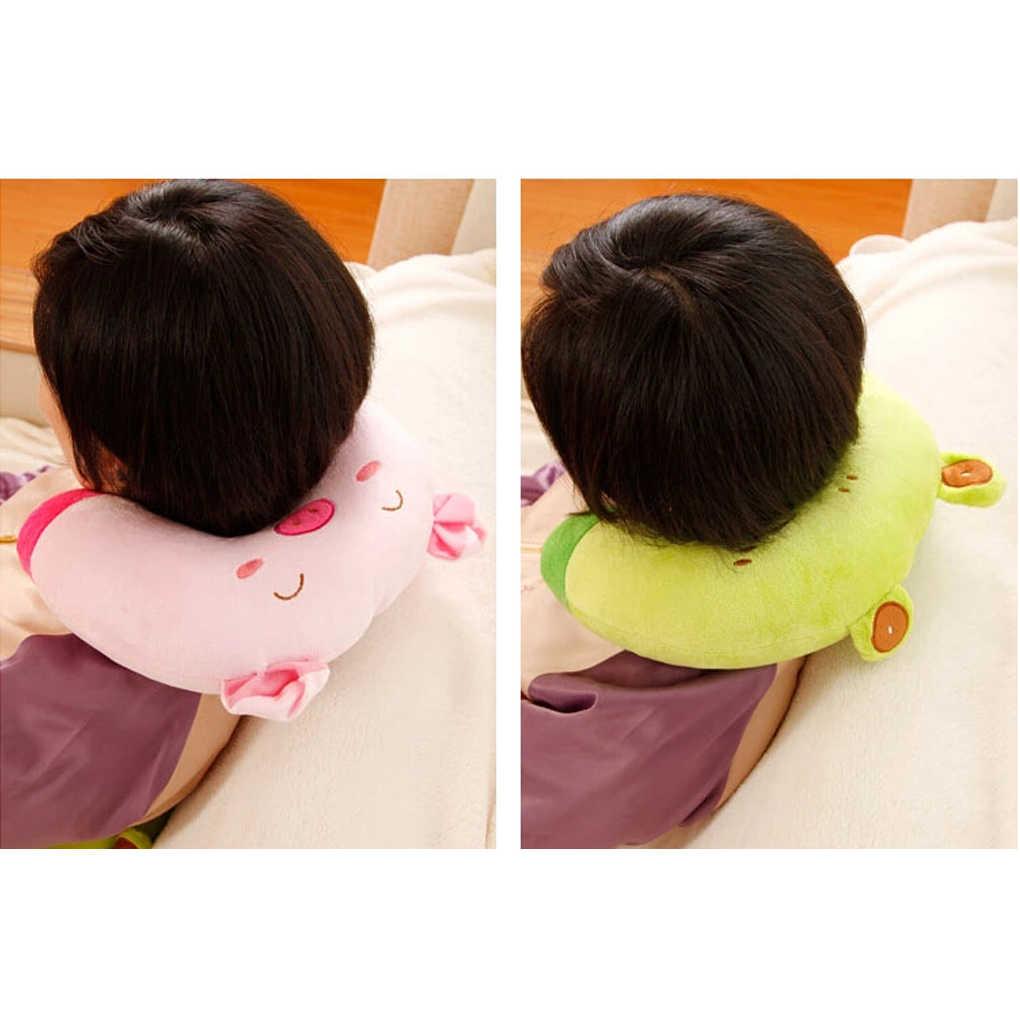 9色ソフトu型の豪華な睡眠ネック保護枕オフィスクッションかわいいラブリー旅行枕子供のための/大人