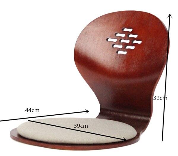 (4 шт/лот) Японский напольный стул сидячий черный/вишневый/натуральный