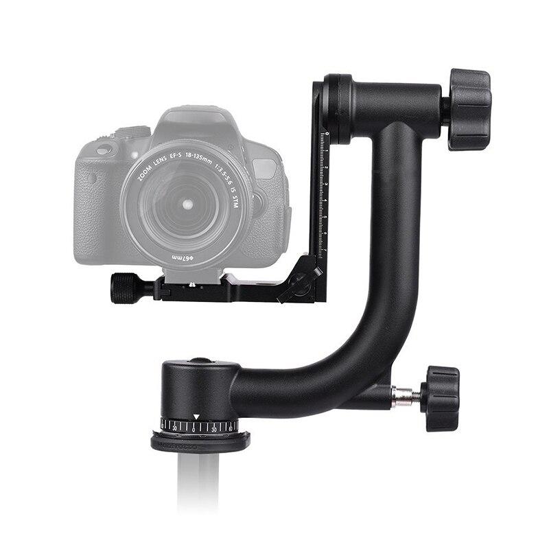 Photo 360 Degrees Panoramic Gimbal Tripod Head Arca-Swiss Standard Quick Release Plate for Canon Nikon DSLR Camera Bird Watching