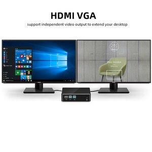 Image 3 - كمبيوتر مكتبي صغير إنتل كور i7 7500U i5 7200U i3 7100U 4K UHD ويندوز 10 لينكس HDMI VGA واي فاي جيجابت إيثرنت 6 * USB HTPC