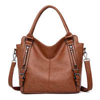Women genuine leather handbag large ZDG sale brown tote bag for women leather female crossbody bag