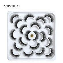 SHISHICAI 1/2/10 Pairs Mink False Eyelashes Natural Long 3D Lashes Extension For Beauty Makeup faux cils
