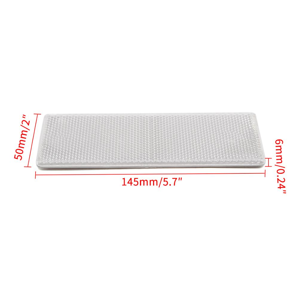 uxcell Truck Trailer Plastic Rectangle Reflective Warning Plate Reflectors White 10 Pcs