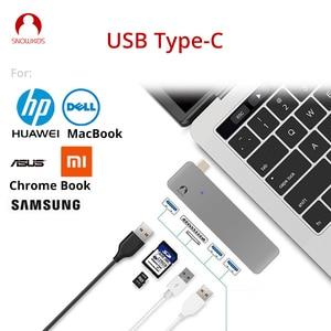 Разветвитель для ноутбука Snowkids, USB C-концентратор, Тип C-USB 3,0, SD, TF, для MacBook, HP, Dell, Samsung, Asus, ZenBook, Huawei Mi
