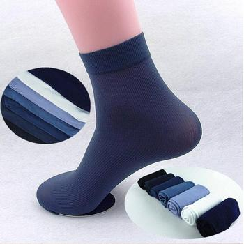 10 Pairs/set Men Cool Thin Socks Bamboo Fiber Summer Fashion Middle Breathable Harajuku Multi Colors Gifts for