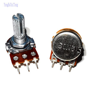 5PCS RK163 Taiwan high quality audio amplifier amp volume Single-unit Rotary Potentiometer 10KB 50KB 100KB
