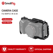 SmallRig BMPCC 4K 6K Camera Cage for Blackmagic Design Pocket Cinema Camera Form Fitting Cage+ Nato Rail Could Shoe Mount  2203
