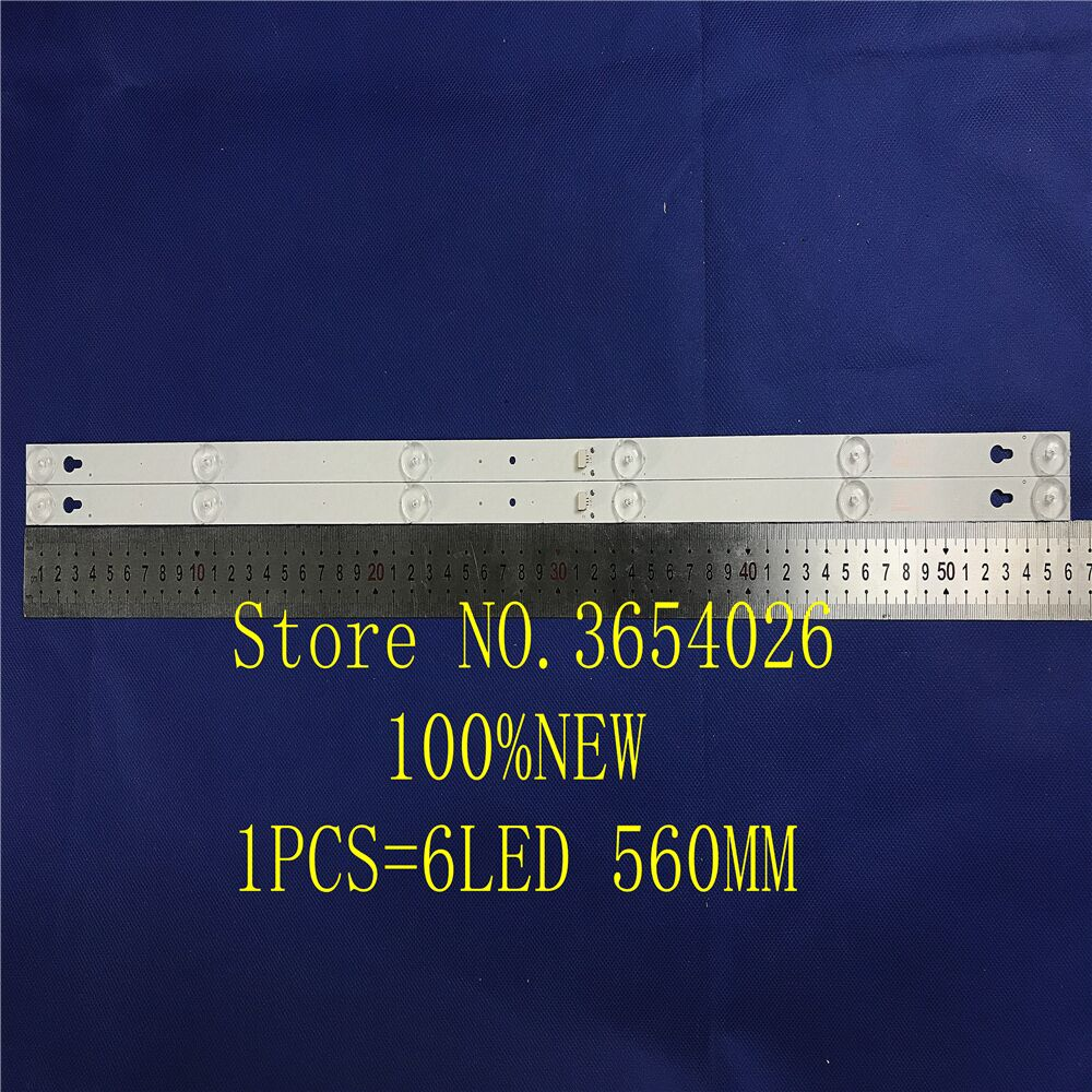 10Pieces/lot 6LED(6V) 560mm LED Backlight Strip For L32P1A 4C-LB3206-HR03J HR01J 32D2900 32HR330M06A5 V5 100%NEW