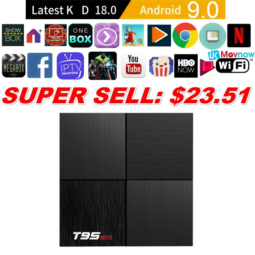 TTVBOX Android 9.0 TV BOX 2GB 16GB T95 MINI Allwinner H6 Quad Core H.265 4K USB 3.0 2.4G WiFi