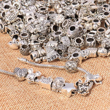 Large Sale Mixed Silver Color Alloy Charms Beads Fit Pandora Charms Bracelets Necklaces for Women More than 1000 Style by Random(China)
