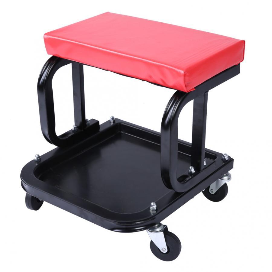 Rolling Creeper Seat Mechanic Stool Chair Repair Tools Tray Shop Auto Car Garage