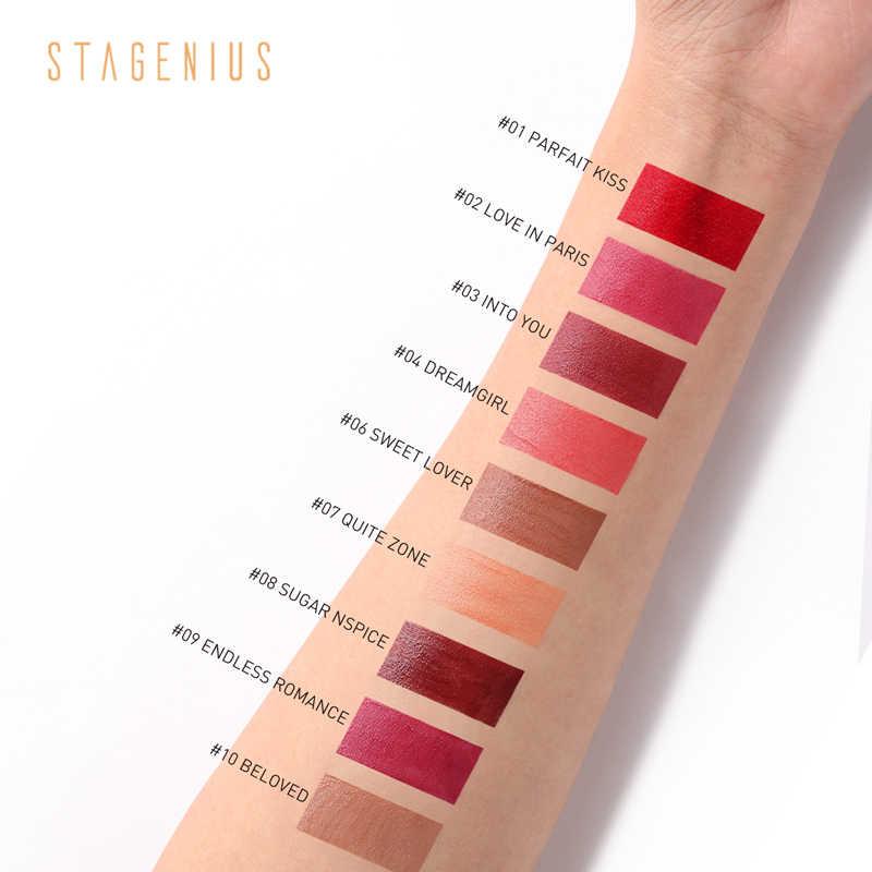 STAGENIUS liquide rouge à lèvres imperméable velours mat brillant à lèvres longue durée 9 couleurs lèvres maquillage Sexy rouge à lèvres brillant à lèvres nouveau