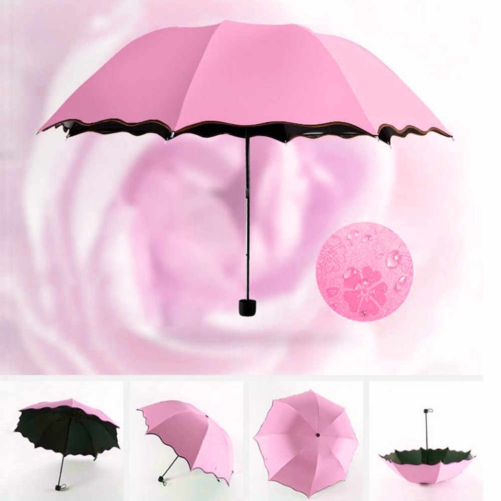 Travel Parasol Folding Rain Windproof Umbrella Folding Anti-UV Sun/Rain Umbrella  Female Gift Girls Anti-UV Waterproof Portable