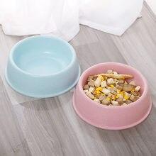 Pet Bowl Plastic Cat Single Bowl Eco-friendly Wheat Stalk Small Dog Food Water Feeding Bowl Non-slip Puppy Feeder Cat Supplies