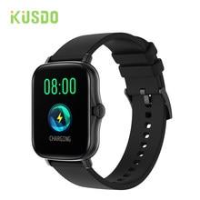 Kusdo 2021 nova moda relógio inteligente das mulheres dos homens à prova dwaterproof água esporte pulseira de fitness rastreador banda gts 2 para apple android