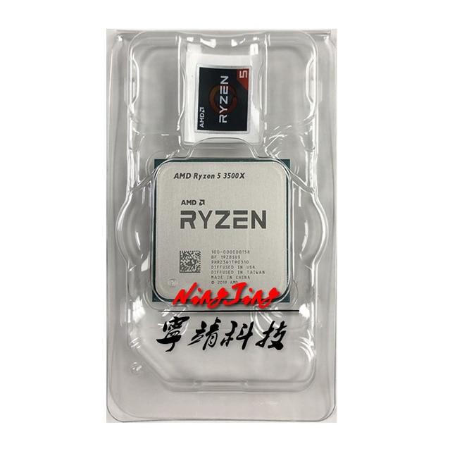 AMD Ryzen 5 3500X R5 3500X 3,6 GHz Sechs Core Sechs Gewinde CPU Prozessor 7NM 65W L3 = 32M 100 000000158 Buchse AM4 Neue aber ohne lüfter