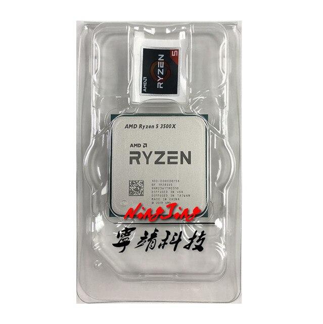 AMD Ryzen 5 3500X R5 3500X 3.6 GHz Six Core Six Thread CPU Processor 7NM 65W L3=32M 100 000000158 Socket AM4 New but without fan