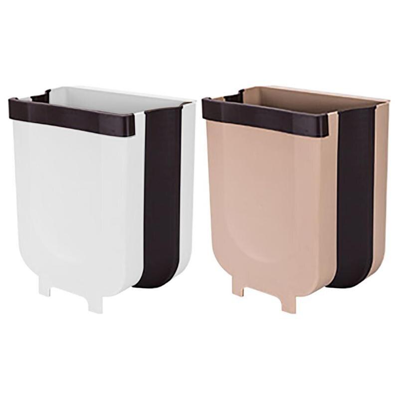 VODOOL 8L Foldable Car Seat Back Mount Trash Can Kitchen Cabinet Door  Hanging Waste Bin For Bathroom Toilet Garbage Storage Box Trucks Interior  Unique ...