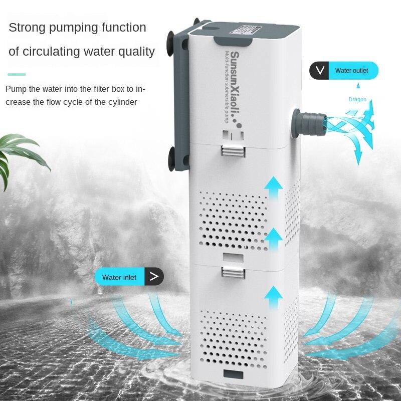 Pompa filtro per acquario 4 In 1 serbatoio di pesce pompa interna per ossigeno ad aria sommergibile pompa ad aria per acquario pompa ad onda pompa powerhead per acquario|Water Pumps| - AliExpress