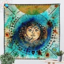 цена на Moon Mandala Tapestry Tarot Wall Hanging Boho Dorm Decor Hippie Psychedelic Wall Tapestry Son Multi-function tapiz pared tela