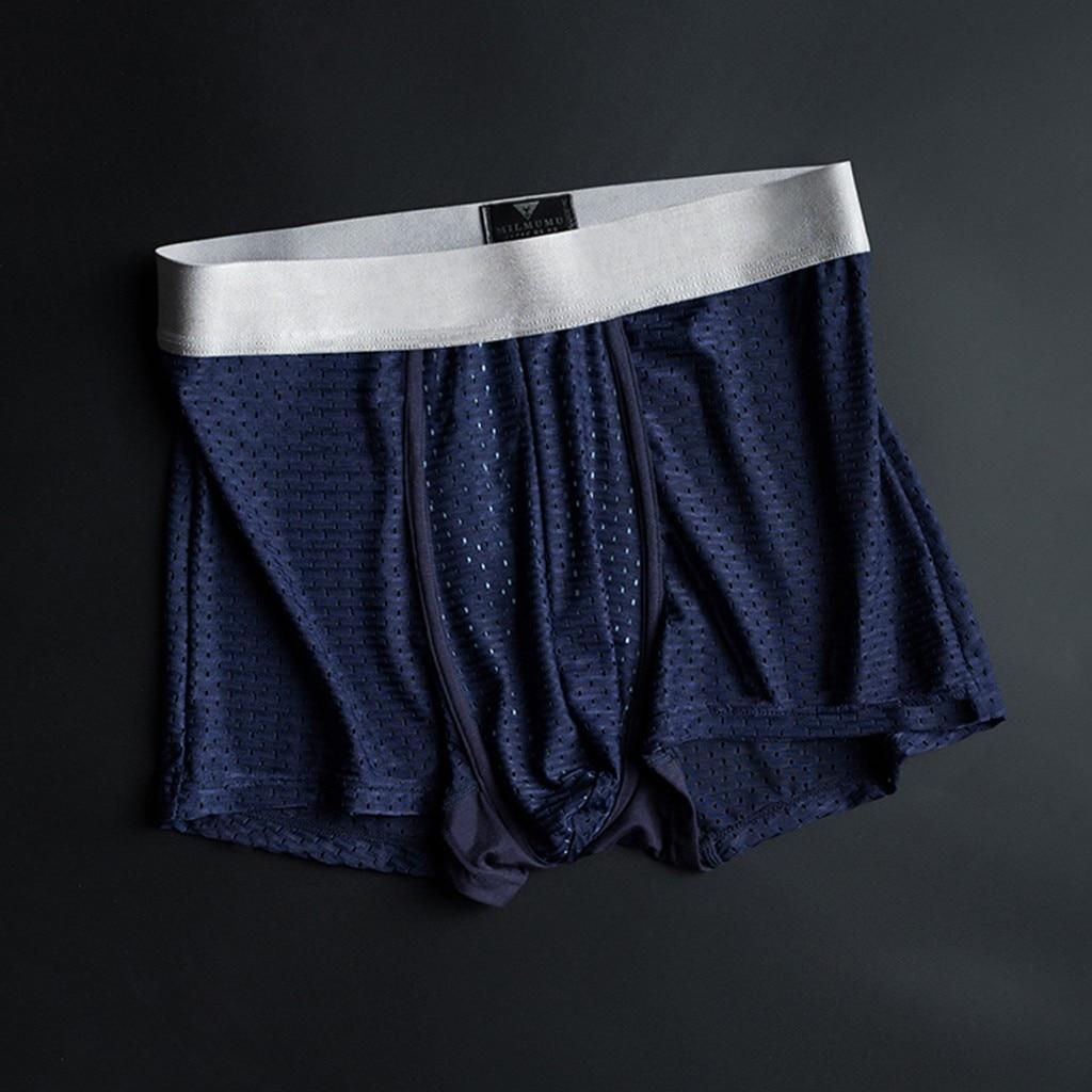 Men's Underwear Ice Silk Comfortable Men's New Style Silver Lon Antibacterial Underwear Breathable Underwear Cueca Masculina
