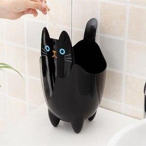 Image 1 - Poubelle créative pour bureau 1 pièce, Mini poubelle pour salon, chambre à coucher, sans couvercle, stockage de chat mignon