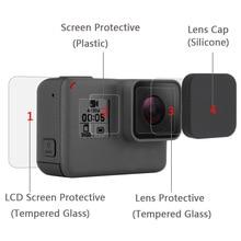 유리 Gopro Hero 5 6 7 Gopro Len LCD 보호 필름 액션 카메라 액세서리