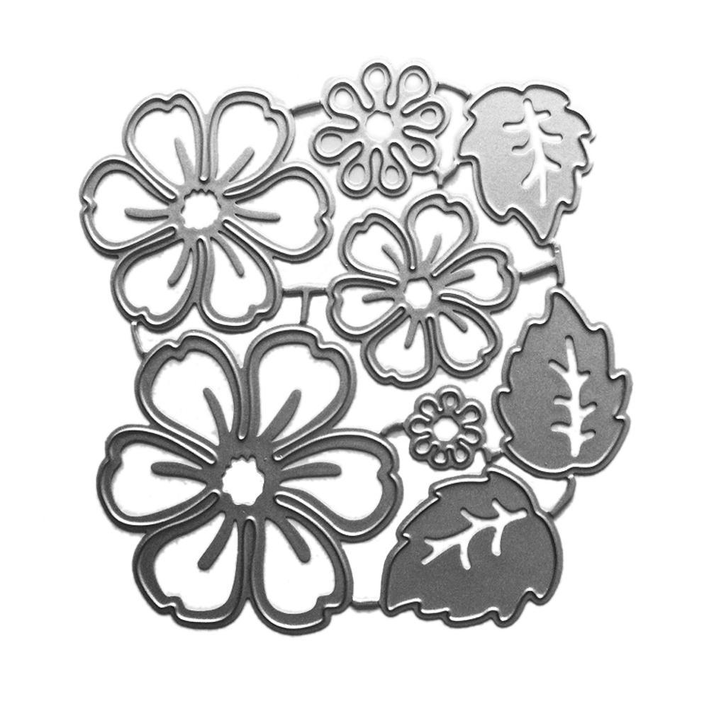 Flower Petal Metal Cutting Dies Stencil Scrapbooking DIY Album Stamp Paper Card