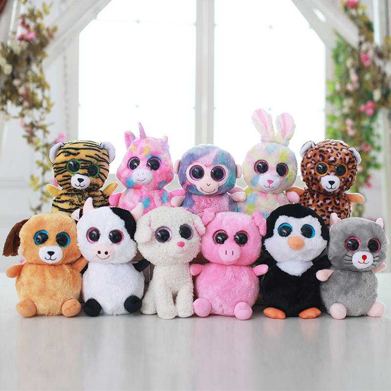 Easter series big eyes animal owl/elephant/rabbit/dog/rhino/sloth/squirrel/panda/koala plush doll high quality stuffed toy gift image