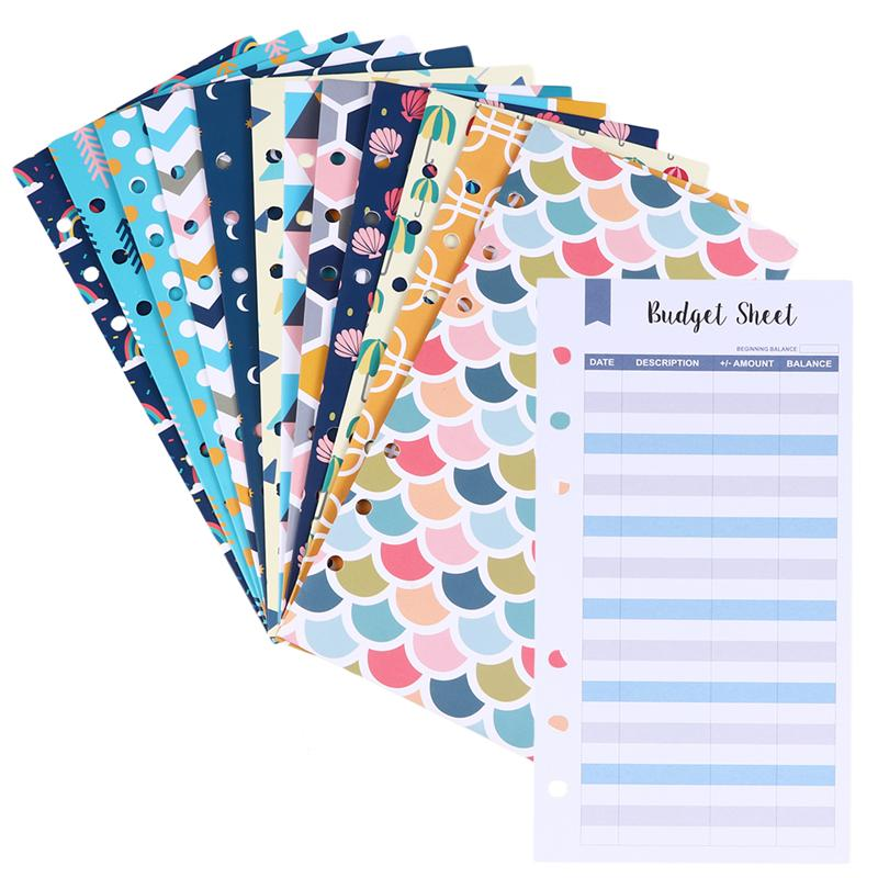 26 шт бюджет конверты творческий набор 6 отверстия денежных конверты с бюджет листов и этикетка наклейки Купоны Органайзер Кошелек