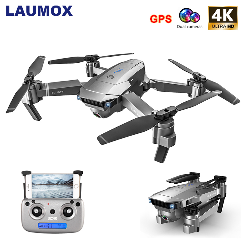 LAUMOX SG907 GPS Drone with 4K HD Adjustment Camera Wide Angle 5G WIFI FPV RC Quadcopter Professional Foldable Drones E520S E58 image