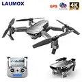Laumox sg907 gps zangão com 4 k hd câmera de ajuste grande angular 5g wifi fpv rc quadcopter profissional dobrável drones e520s e58