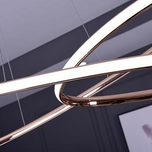 Image 4 - ניאו זהב בוהק מצופה כרום מודרני Led תליון אורות חדר אוכל מטבח חדר בר חנות תקרת מנורת 90 260V משלוח חינם