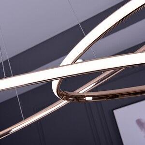 Image 4 - Neo Gleam Gold Chrome Plated Moderne Led Hanglampen Voor Eetkamer Keuken Kamer Bar Winkel Plafondlamp 90 260V Gratis Verzending