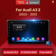 Reprodutor de vídeo dos multimédios do rádio do carro de junsun v1 android 10.0 dsp carplay gps estéreo automático para audi a3 8p 2003 - 2013 2 din dvd