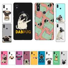 MaiYaCa Pug dog seen things dog Black TPU Soft Phone Case Cover for Xiaomi mi 5 6 plus 6x 8 8se 8lite 9 9se 5x case(China)