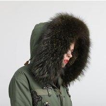 Высококачественное китайское фабричное новейшее производство милое и модное армейское зеленое короткое пальто с мехом
