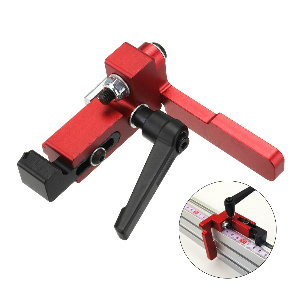 75 Type Retainer Manual Limiter T Slot Woodworking Tool Fixed Miter Track Stop Aluminum Alloy Accurate Router Table Industry DIY