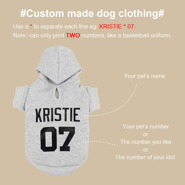 Custom Dog Hoodies Large Dog Clothes Personalized Pet Name Clothing French Bulldog Clothes for Small Medium Large Dogs XS-6XL 4