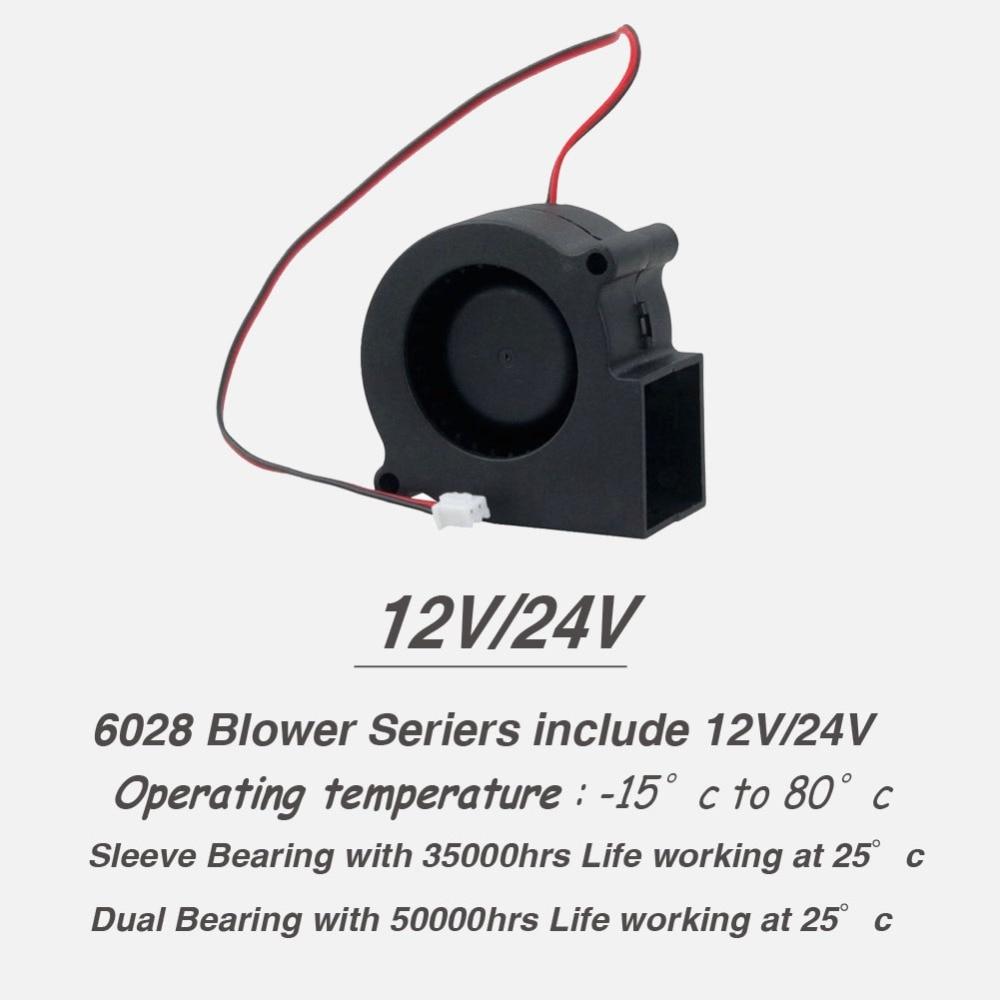 2 шт. бесщеточный охладитель охлаждения DC веер для центробежного дутьевого вентилятора 60 мм 12 в 24 В 2Pin 60x28 мм 6028 6 см рукав двойной шар радиатора
