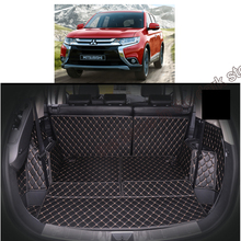 Lsrtw2017 Leather Car Trunk Mat Cargo Liner for Mitsubishi Outlander 2013-2019 Fully Enclosed Accessories Mats